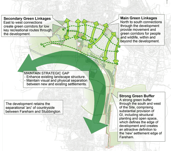 Fareham Planning Application - Green Infrastructure - click for larger image