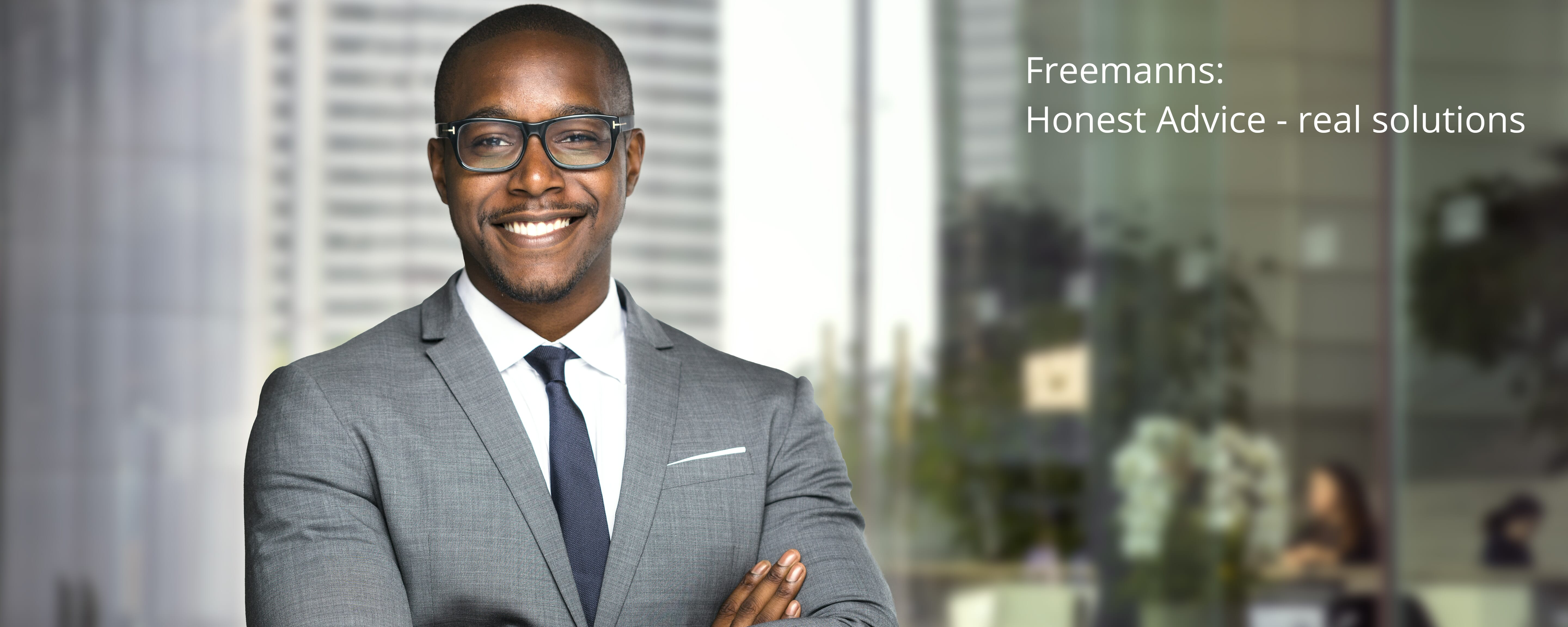 Friendly Solicitor welcomes his clients